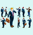 isometric people vector image vector image