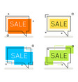 abstract line art sale banner card element set vector image