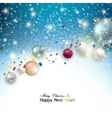 Christmas background with christmas balls and vector image vector image