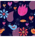 tulips hearts vector image