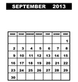 september calendar 2013 vector image