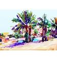 original digital painting of Cyprus colorful vector image