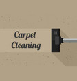 carpet cleaning banner vector image