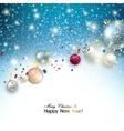 Christmas background with christmas balls and vector image