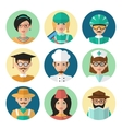 Faces Avatar Icons vector image