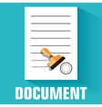 flat document icon concept design vector image