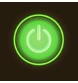 Green neon button vector image