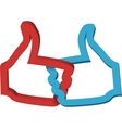 Thumbs up double like icon likes vector image