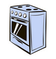 white oven icon cartoon vector image