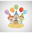 Happy birthday icon vector image