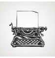 Vintage mechanical typewriter Sketch vector image
