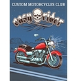 Vintage motorcycle on the background of the night vector image