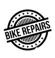 Bike Repairs rubber stamp vector image