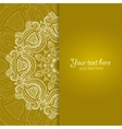 Invitation card with lace ornament 3 vector image