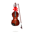 A Beautiful Brown Violin on White Background vector image vector image