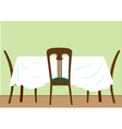 Table and chairs vector image vector image