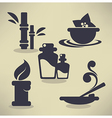 flat spa icons vector image