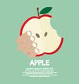 Bitten Apple In Hand vector image