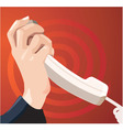 telephone call vector image vector image