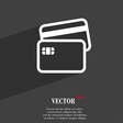 Credit card icon symbol Flat modern web design vector image