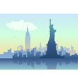 An of New York City skyline vector image