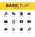 Basic set of web icons vector image