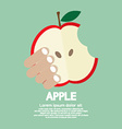 Bitten Apple In Hand vector image