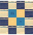 calendar 2016 vector image