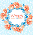 Floral wreath with flowers vector image