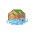 House In Flood Natural Forces Threat vector image