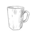 sketch of cup vector image