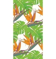 Seamless background with palm leaves and tropical vector image vector image
