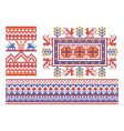 Russian ornament patterns vector image vector image