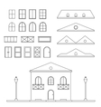 Lineart House Generator vector image