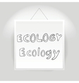 Hand drawn Ecology font vector image