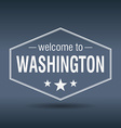 welcome to Washington hexagonal white vintage vector image