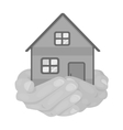 Property donation icon in monochrome style vector image
