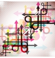 stylish colorful arrows vector image