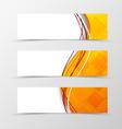 Set of header banner technologic wave design vector image