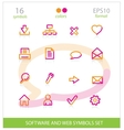 creative interface software symbols set vector image vector image