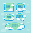 cloud frame text blue border vector image