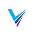 abstract v layer logo image vector image