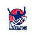 marathon runner i survived vector image