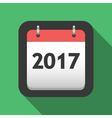 2017 calendar flat icon vector image