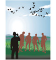 friends in nature vector image vector image