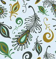 colorful various feathers vector image vector image