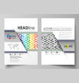 Business templates for brochure flyer annual vector image