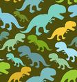 Dinosaur seamless pattern Dino texture vector image