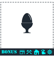 Egg On Stand icon flat vector image