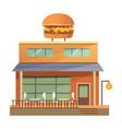 flat commercial restaurant building - vector image